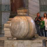 Marble storage vessel, Hagia Sofia, Istanbul