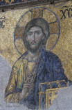 Central detail of the figure of Christ from the Deësis mosaic, Hagia Sofia, Istanbul