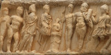 Relief carving at the Temple of Hadrian, Ephesus