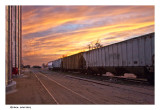 Grain carriers at a siding