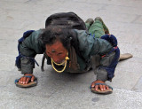 Prostrating around Jokhang