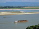Timber barge, Irrawady river