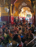 Praying to Mahamuni