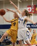 Queen's vs Laurentian W-Basketball 02-12-11