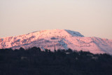 Schneeberg im Abendrot / snow mountain at sunset
