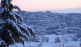 early morning: snow in Fayence