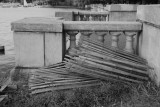 Snow fence and old concrete