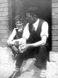 Dad and me, Excise Street circa 1955