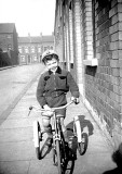 Me and my first bike, Excise Street circa 1953