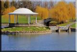 Pavilion In  Hiawatha Lake, Closer View