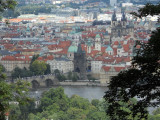 View of Lookout Tower on Petrin ...Charles Bridge