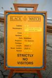 BLACK WATCH Board Sign