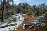 Dusting of Snow on Trail