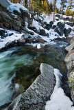 Winter creek in Sierra mountains