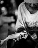Sanding a carved shark. IMG_4070.jpg