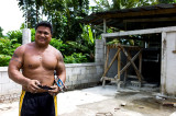 Ferny has the only fitness center on Pohnpei and is expanding it. L1017371.jpg