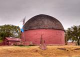 A round barn,   Arcadia, Oklahoma.