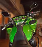The bikers cockpit