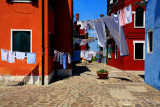 laundry day in burano island