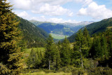 Obertilliach: viewed from the mountain road to Porze-Hutte