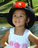 Hannah in hat