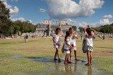 Local Schoolgirls and Temple of a Thousand Warriors