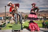 Cusco: Plaza de Armas: Inca Figures