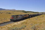 UP 1983 on a westbound freight-north of Tintic, UT