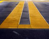Yellow plastic road.