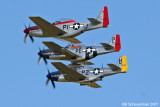 Flight of 3 P-51s