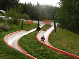 Reilly coming down Alpine slide