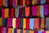Freshly dyed wool