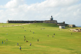 Panoramic view of the grounds of El Morro Fort