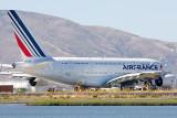Gulls and an Air France Airbus A380-861 F-HPJA