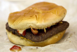 My lunch in Houston Hobby Airport between flights.  Wendy's Baconator® Single