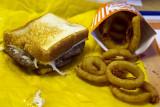 Whataburger Patty Melt and Onion Rings