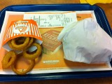 Whataburger Double Meat with Onion Rings