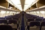 Empty plane at San Antonio International Airport - SAT flight 31 HRL to PHX