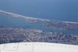 View from my seat of the San Diego - Coronado Bridge