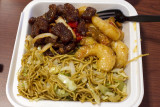 Panda Express Honey Walnut Shrimp, Beijing Beef and Chow Mein Combo