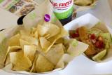 Nacho Carnitas Burrito and Baja Fish Taco