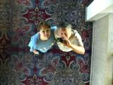 Gail and Elliot in the ceiling tiles at the Nugget in Sparks