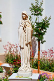 statue of Blessed Virgin Mary outside of Our Lady of the Most Holy Trinity Chapel at Thomas Aquinas College _MG_9668.jpg