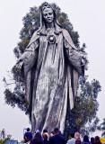 Statue of Blessed Virgin Mary at Our Lady of Peace Roman Catholic Churchin Santa Clara CA.jpg