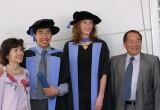 Mrs Kwan, Laz, Emma and Mr Kwan