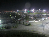 Night view of the track and grounds from our perch.