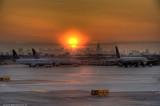 Sunrise at Newark Airport