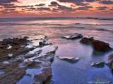 Sunset, Jiser A' Zarka Beach