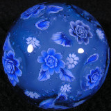 Christmas Rose and Snowflakes Size: 1.41 Price: SOLD