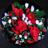Rick Ayotte, Scarlet Bouquet Size: 3.22 Price: SOLD